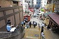 HK SW 上環 Sheung Wan 太平山街 9號 Tai Ping Shan Street 明發樓 Ming Fat House 太歲廟 Tai Sui Temple reservation of stairs 磅巷 Pound Lane December 2017 IX1 LCSD cleaning workers n policemen 01.jpg