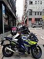 HK SW 上環 Sheung Wan 新街 New Street Yamaha motorbike parking February 2020 SS2 01.jpg