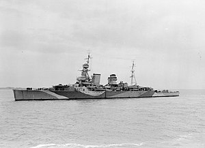 Heavy cruiser - HMS Hawkins, lead ship of her class