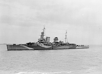 Heavy cruiser - HMS Hawkins, lead ship of her class.