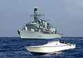 HMS Iron Duke Approaches Drugs Vessel MOD 45150486.jpg