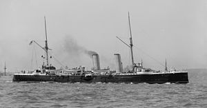 Marathon-class cruiser - HMS Magicienne (picture taken between 1890 and 1899).