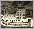 HUA-32392-Afbeelding van een gondelvaart bij avond met fakkels en muziek door de Drift bij de Jansdam met rechts het huis Janskerkhof 12 georganiseerd door bedi.jpg