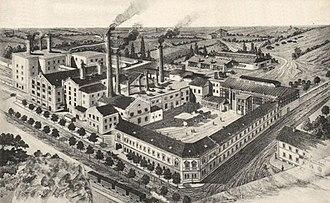 Henrik Haggenmacher - The factory of Dreher Breweries in Budafok in 1910