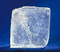 Halite (sodium chloride) - a single, large crystal