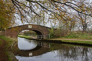 Listed buildings in Leigh, Greater Manchester - Image: Hall House Bridge, Leigh