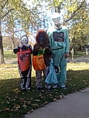 Bridgeview, Illinois - Children trick or treating in Bridgeview, IL