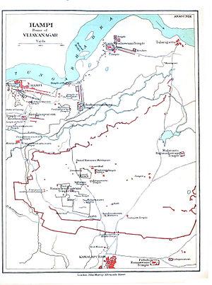 Hampi - Hampi Map, 1911 Survey