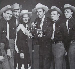 George Jones Salutes Hank Williams - Hank Williams, Audrey Sheppard Williams and the Drifting Cowboys band