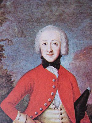 Christoffer Foltmar - Portrait of Count Hannibal Wedell-Wedellsborg by Christoffer Foltmar, 1751