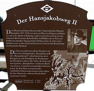 Hansjakob Way II - Information sign at Biberach station