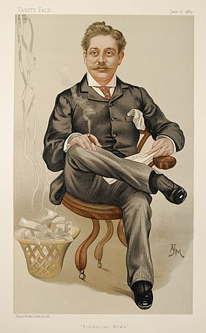 Financial News (1884–1945) - Financial News Founder Harry Marks as caricatured in Vanity Fair, June 1889