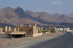Hatta with Al Hajar Mountains in the background