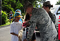 Hawaii National Guardsmen pass out candy to trick or treaters, patrol neighborhoods as lava flow continues 141031-Z-ZO853-061.jpg