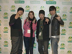 Head Phones President - Batch, Anza, Narumi and Hiro at Japan Expo Sud 2011 in France.