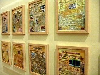 Eternal Gandhi Multimedia Museum - Image: Headlines