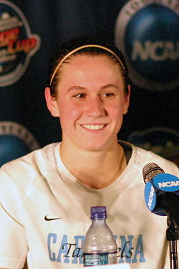 O'Reilly as a Tar Heel player Heather O'Reilly 2006.jpg