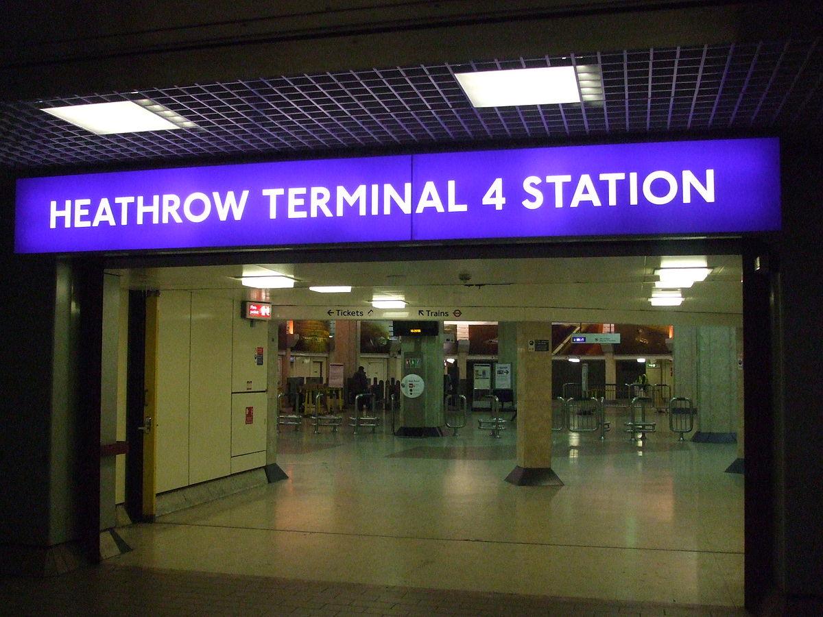 Heathrow Terminal 4 tube station - Wikipedia