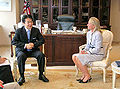 Heizo Takenaka and Deborah Tate 20060804.jpg