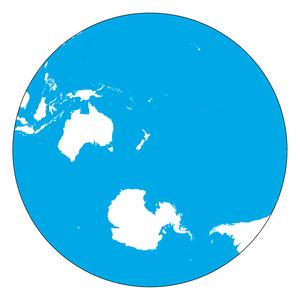 Land and water hemispheres - The Water Hemisphere