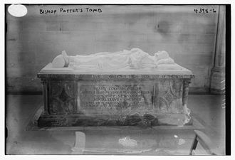 Henry C. Potter - Henry Codman Potter tomb in 1917
