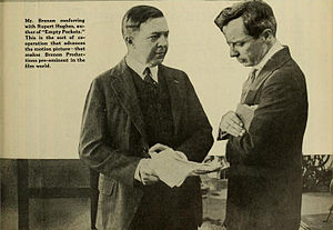 Rupert Hughes - Rupert Hughes (left) with Director Herbert Brenon in 1917