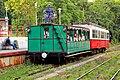 Heritage service passing the uphill platform at Svabhegy Station (27618029820).jpg