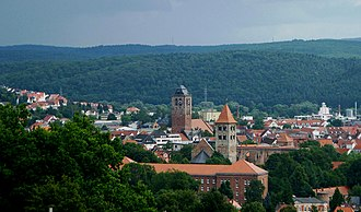 Bad Hersfeld - Old Town of Bad Hersfeld, taken from the Tageberg