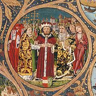Duke Leopold VI.  (the glorious).  Excerpt from the Babenberger family tree, Klosterneuburg Abbey.