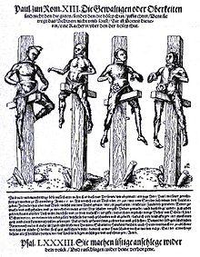 Hexenverbrennung in Wittenberg vom 29. Juni 1540, dargestellt von Lucas Cranach d.J. (Quelle: Wikimedia)