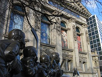 The Hockey Hall of Fame is a museum dedicated to ice hockey, as well as a Hall of Fame. Hhof exterior1.jpg