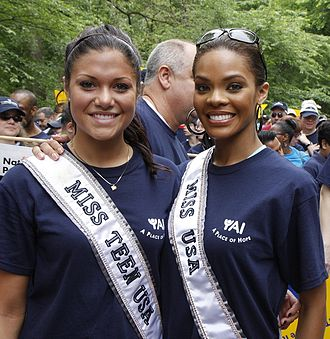 Miss Universe - Hilary Cruz, Miss Teen USA 2007 and Crystle Stewart, Miss USA 2008