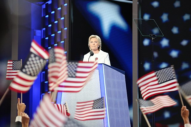 From commons.wikimedia.org: Hillary Clinton 2 DNC July 2016 {MID-188190}