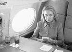 Hillary Rodham Clinton on plane using Game Boy (08).jpg