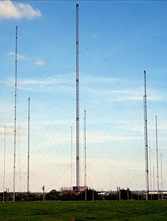 tall structure designed to support antennas