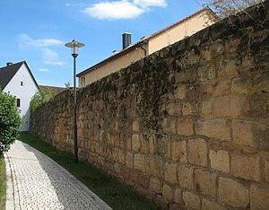 Hilpoltstein - Image: Hilpoltstein An der Stadtmauer