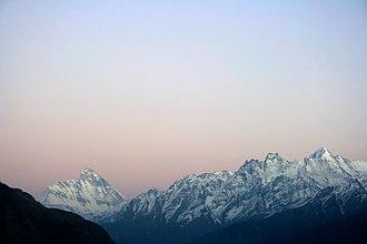 Auli, India - Image: Himalayas near Auli