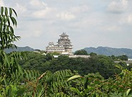 Himeji Castle seen from west 02