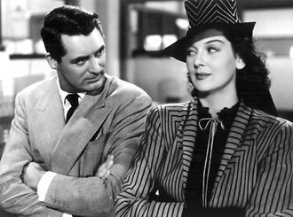 Robert Kalloch - Rosalind Russell in a Kalloch-designed dress and hat in His Girl Friday