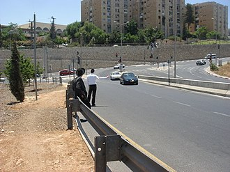 Hitchhiking - Orthodox Jews tremping in Jerusalem