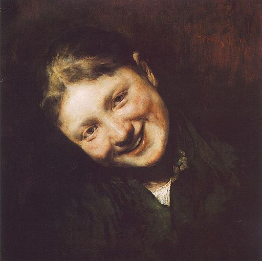 Hollósy, Simon - Laughing Girl (1883)
