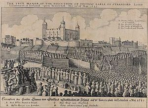 Gervase Helwys - Engraving depicting an execution at Tower Hill c. 1641