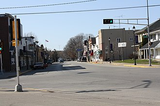 Hortonville, Wisconsin - Image: Hortonville Wisconsin Downtown 1WIS15