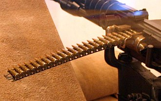 Belt (firearms) - 8mm Lebel feed strip on an M1914 Hotchkiss gun