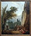 Hubert robert, fontana e colonnato in un parco, 1775.JPG