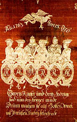 Allegorical representation of the Hubertusburg Peace