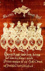 Hubertusburg Allegorie
