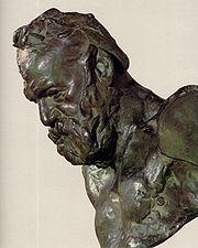 Escultura de Victor Hugo, por Rodin.