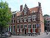 foto van Dubbel hoekhuis met dwarse achtervleugels, Huis aan de Drie Grachten