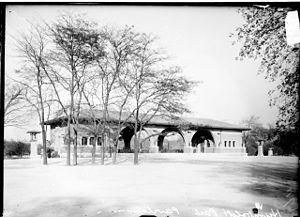 Humboldt Park (Chicago park) - Pavilion in Humboldt Park in 1908.